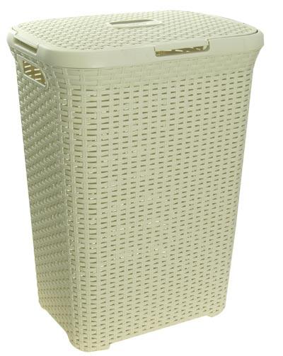 Koš na prádlo RATTAN 60 L - krémový