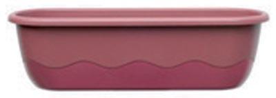 Samozavlažovací truhlík Mareta 60 + hák - růžová / vínová