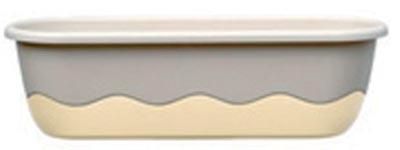 Samozavlažovací truhlík Mareta 60 + hák - slonová kost světl
