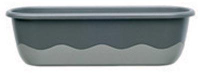 Samozavlažovací truhlík Mareta 60 + hák - antracit tmavý / s