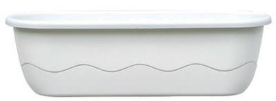 Samozavlažovací truhlík Mareta 60 + hák - bílá