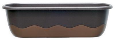 Samozavlažovací truhlík Mareta 80 + hák - čokoládová / bronz