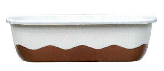 Samozavlažovací truhlík Mareta 80 + hák - cappuccino