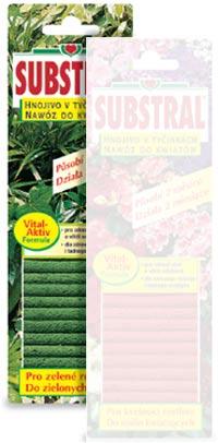 Substral tyčinky - hnojivo pro okrasné rostliny
