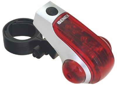 Zadní blikač na kolo S-3201, 8 LED - červená