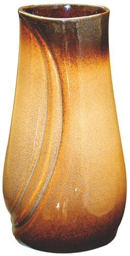 Váza hřbitovní vlnka - hnědá