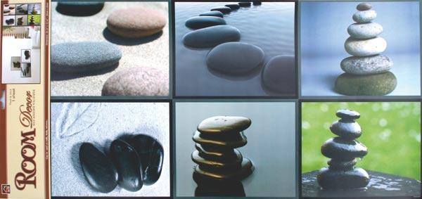 Pokojová samolepící dekorace - kameny