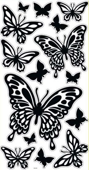 Samolepky na zeď - motýlci
