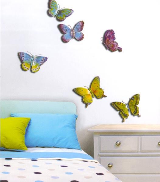 Dekorace do dětského pokoje - motýli
