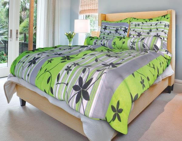 Povlečení na 2 postele bavlna Liana zelená 140x200 70x90, Smolka