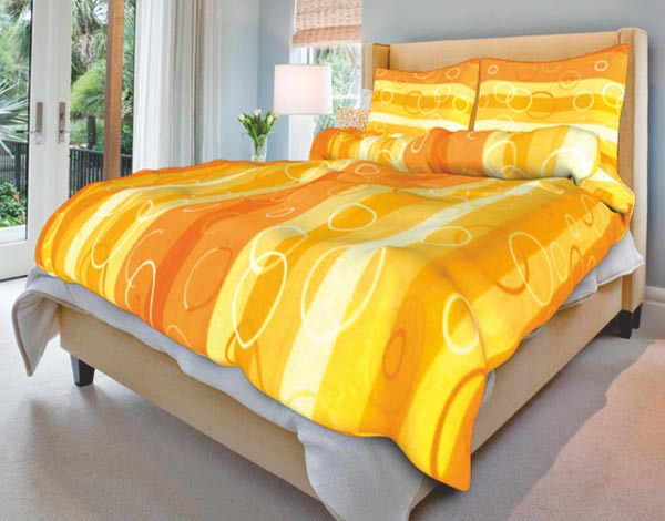 Povlečení bavlna Kola oranžová 140x200 70x90, Smolka