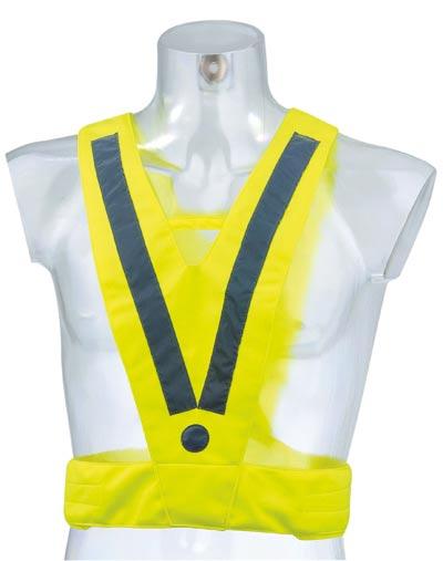 Reflexní vesta ve tvaru V, žlutá