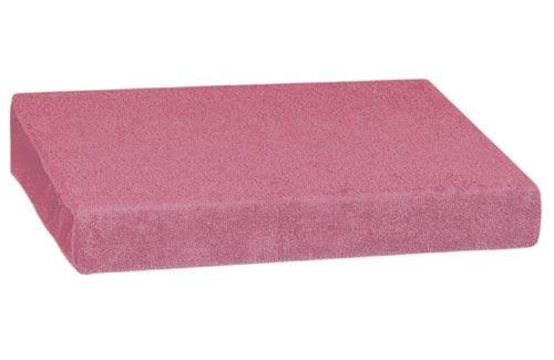Froté prostěradlo 90 x 200 cm, růžová