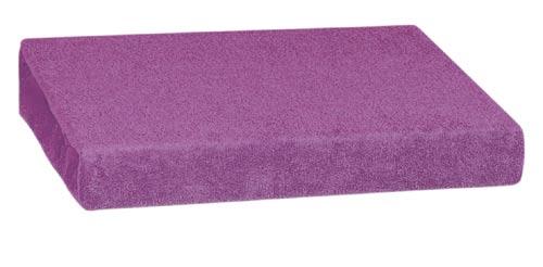 Froté prostěradlo 90 x 200 cm, tm. fialová