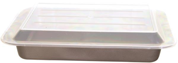 Pečící plech s plastovým víkem 36,3x24,5x5,3 cm, Culinaria