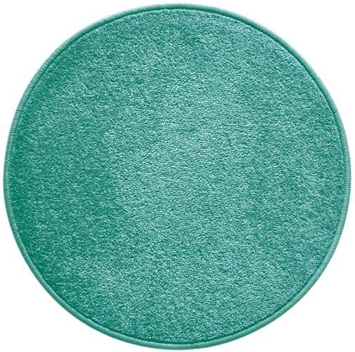 Kruhový koberec Eton malý průměr 57 cm, tyrkysová