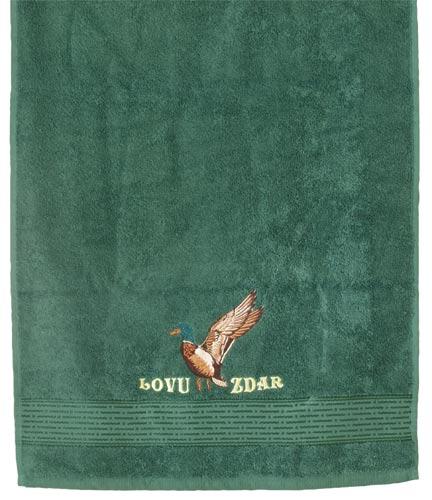 Ručník pro myslivce 50 x 100 cm Lovu zdar, tm. zelená, Fortel