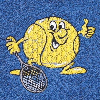 Osuška 70 x 140 cm tenis, bílá