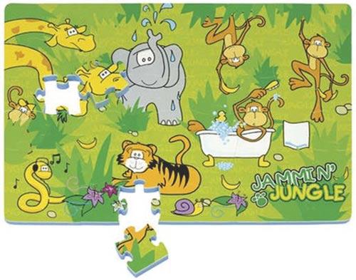 Pěnové puzzle Džungle - 54 dílků