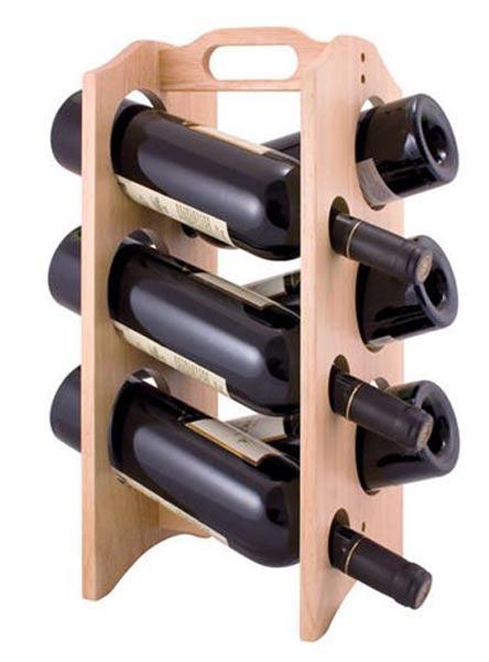 Dřevěný stojan na víno BRILLANTE 6 lahví, Banquet