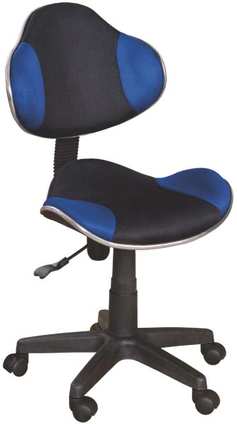 Dětská židle Nova - modrá / černá