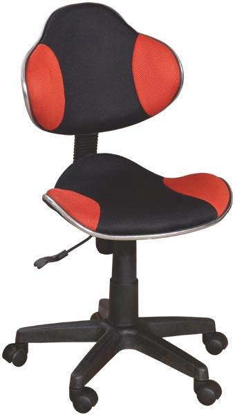 Dětská židle Nova - červená / černá