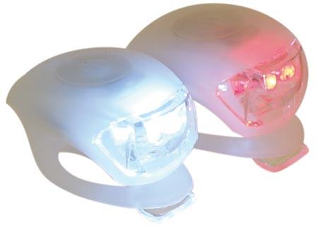 Sada LED světel na kolo