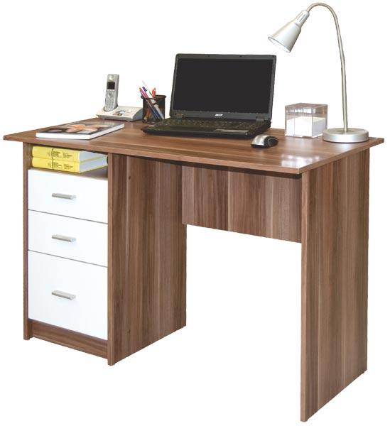 Počítačový stůl Simon švestka/bílá