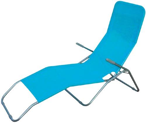 Skládací lehátko relaxační - modré