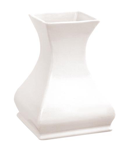 Váza exteriérová s glazurou - bílá