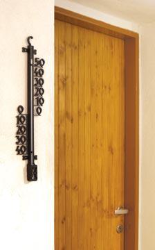Teploměr venkovní na zeď 25 cm