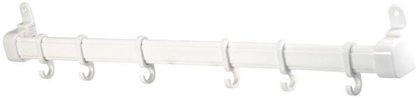 Koupelnový věšák na ručníky na dveře 714, 6 háčků, 30 cm