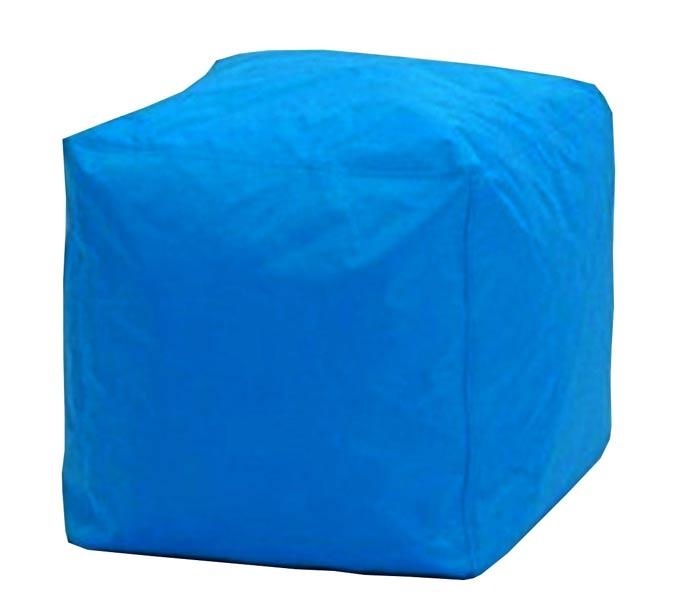 Sedací taburet Kostka modrá