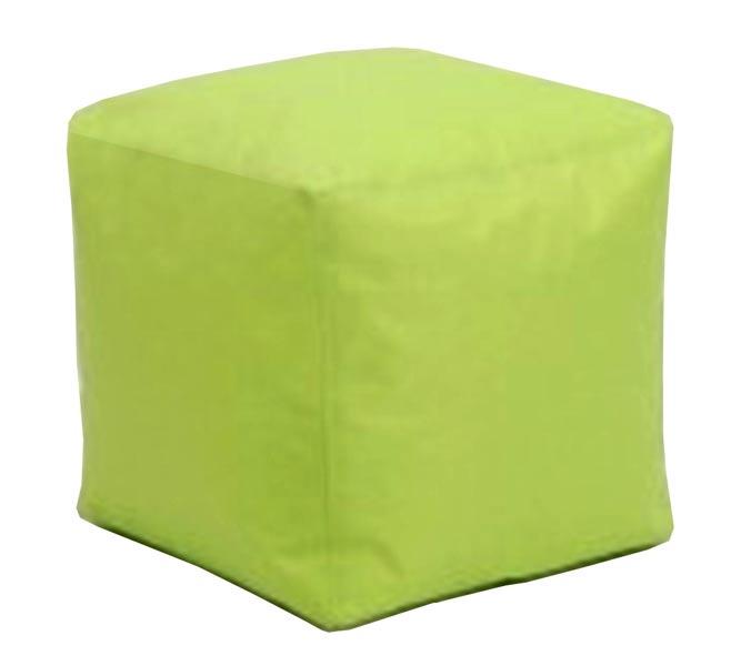 Sedací taburet Kostka zelená