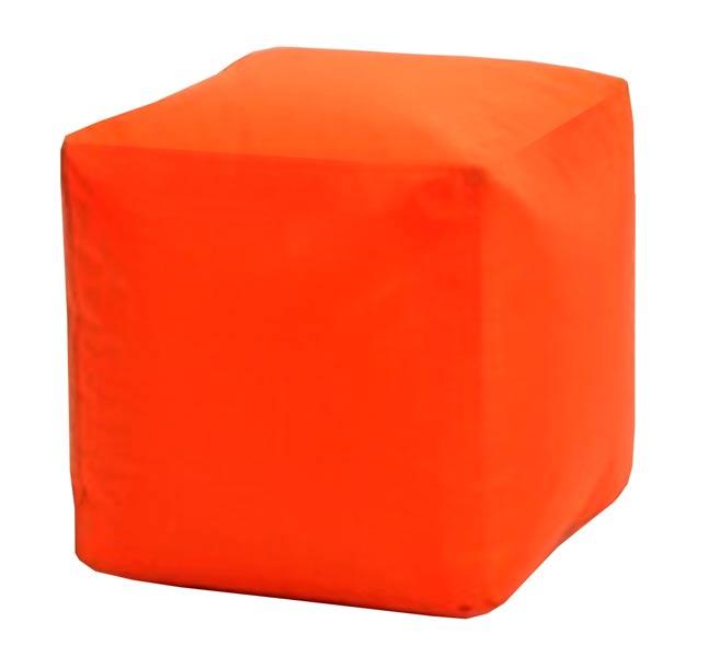 Sedací taburet Kostka oranžová