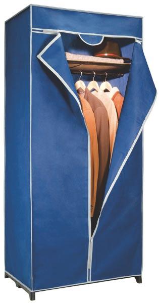 Šatní skříň textilní XL 75 x 50 x 170 cm