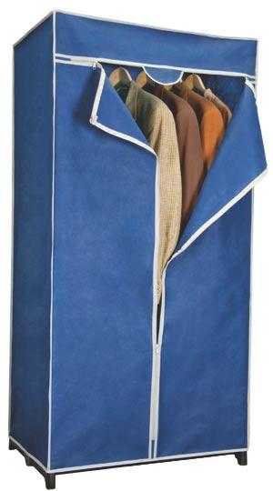 Šatní skříň textilní L 75 x 50 x 160 cm