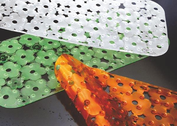 Protiskluzová podložka do vany FLOWER, transparentní
