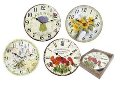 Nástěnné hodiny s květinami 33cm