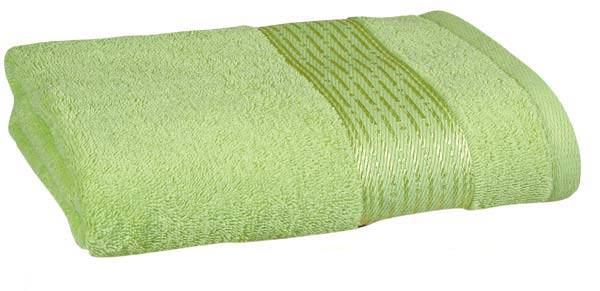 Ručník KAMILKA proužek 50 x 100 cm, sv. zelená