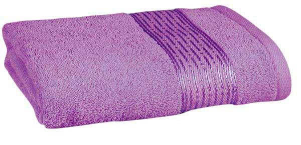 Osuška KAMILKA proužek 70 x 140 cm, fialová