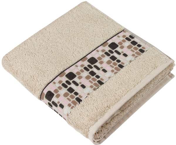 Osuška froté kameny 70 x 140 cm, béžová