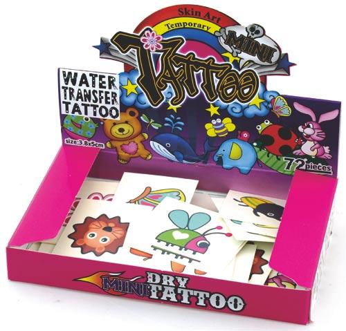 Tetovací obtisky barevné 72 ks
