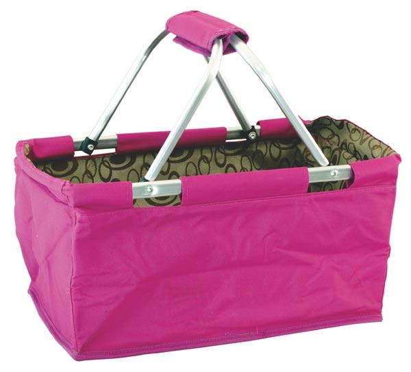 Nákupní košík skládací - růžový