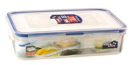 Dóza na potraviny obdelník s přihrádkami HPL816C, 800 ml, Lock nad Lock