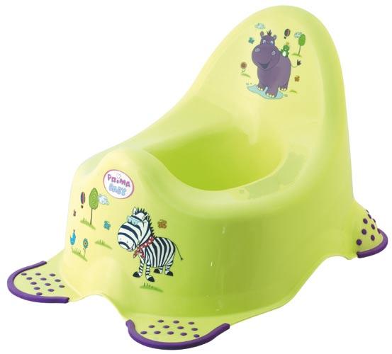 Dětský nočník s protiskluzem Hippo zelená, OKT