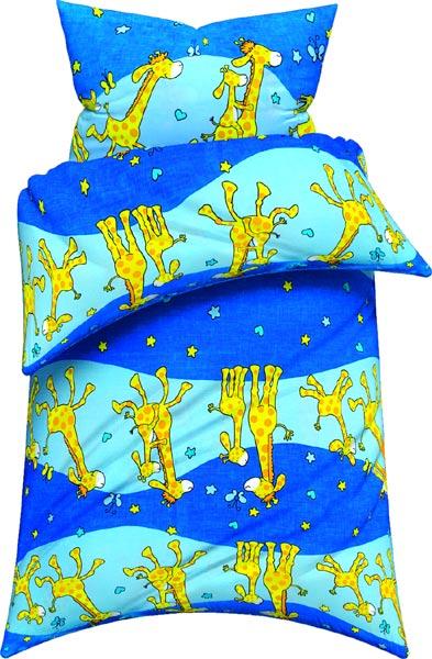 Žirafa bavlna 135 x 90 cm, modrá