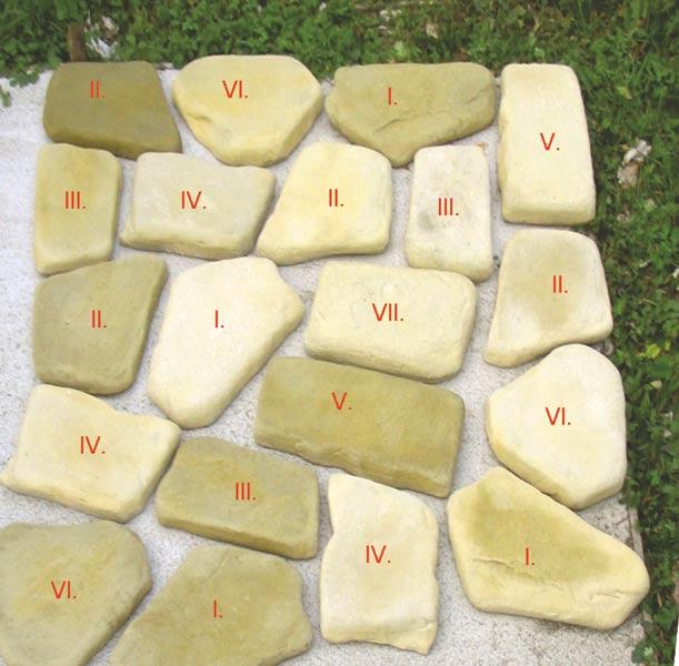 Kamenné nášlapy  -  šlapáky VII.