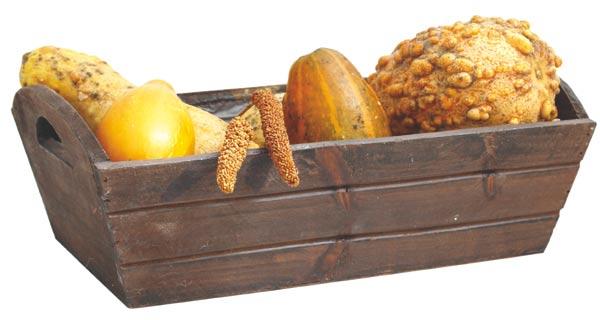 Aranžovací dřevěná miska hnědá