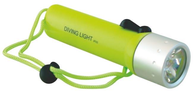 LED svítilna pod vodu pro potápění
